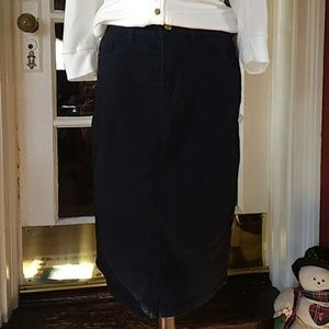 0a6656c3675 The Main Street Exchange Skirts - NWT Modest Black Denim Midi Skirt Sz 8 10